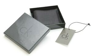 CALVIN KLEIN Black Leather Wallet New in Box