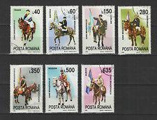 cavalier les jeunes de Brasov  ROUMANIE 1995 série de 7 timbres oblitérés /T1721