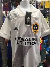 Adidas LA galaxy Home Jersey 2020 White Grey Stadium Cut Size S Boy's Only