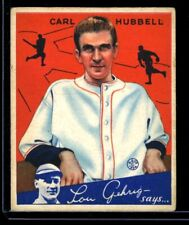 1934 Goudey CARL HUBBELL Giants #12 VGEX