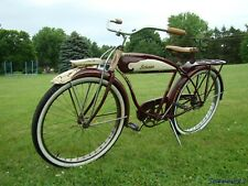1952 SCHWINN BF GOODRICH DELUXE HORNET MENS TANK BICYCLE PHANTOM S2 AUTOCYCLE 50