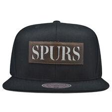 San Antonio Spurs LASER CUT LEATHER Snapback Mitchell & Ness NBA Hat