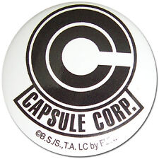 **License** Dragon Ball Z SD Bulma's Capsule Corp Icon Logo 1.25'' Button #16652
