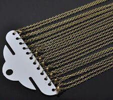 12 Accessoire Colliers Chaîne Maille Forçat Fermoir mousqueton Bronze 45.72cm