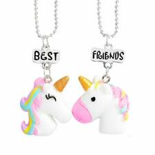 2PCS Unicorn Best Friends Childrens Necklace Teens Girls 2 Necklaces UK Seller