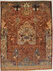 One-of-a-Kind Pictorial Design 10X13 Classical Oriental Rug Home Decor Carpet