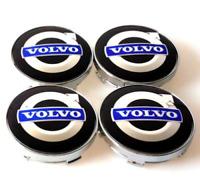 Volvo Schwarz Blau Black Nabenkappen Felgendeckel Allufelgen Wheel Cap 4 x 60mm