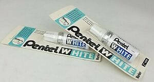 Pentel White 100W Multi Purpose Permanent Marker Pen x 2