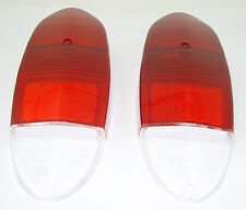 TAIL LIGHT LENS RED & WHITE FITS VOLKSWAGEN TYPE3 1970-1973 & GHIA 1972-1974