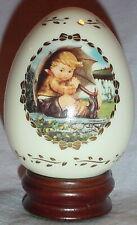 Umbrella Boy Porcelain Egg Danbury Mint 1994 M J Hummel