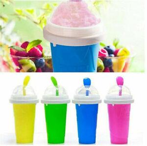 Slushie Maker Homemade Durable Smoothie Cup Reusable Magic Squeeze Quick Frozen
