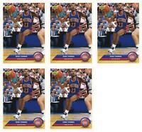 (5) 1992-93 Upper Deck McDonald's Basketball #P12 Isiah Thomas Card Lot