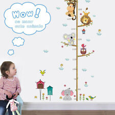 Children Height Growth Chart Measure Wall Sticker Kids Room Animal Decal