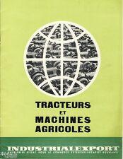 Industrialexport roumanie tracteurs et machines agricoles prospectus de 1962