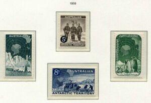 s31303) AUSTRALIAN ANTARCTIC 1959 MNH** Definitives 4v