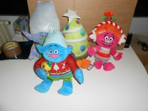 "TROLLS plush-- set of 4---12""---15""  christmas soft toy DreamWorks - NEW!"