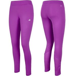 Adidas Women's Sports Leggings Long Tight Yoga Fitness Pants Track Pink/Purple