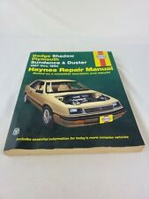 Haynes ~ 1987-1994 Dodge Shadow/Plymouth Sundance & Duster Repair Manual