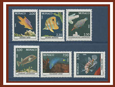 1988 MONACO N°1615/1620** POISSON, Fish National Oceanographic Aquarium