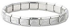 Wholesale Lot 24pcs Stainless Steel Italian Charm Bracelets Silver Dolphin New