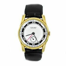 Vintage Ulysse Nardin GMT Locle Suisse 14K Gold Plated Automatic Mens Watch 33mm