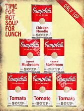 Vintage Food, 92, Campbell's Soup, Cafe Old Shop Kitchen, Small Metal/Tin Sign