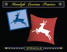"""Stencil~REINDEER 400~6"""" H x 6"""" W Santa's Midnight Christmas Flying Reindeer"""