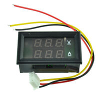 0-50A DC 4.5-30V Dual Red LED Digital Volt meter Ammeter Voltage Am meter