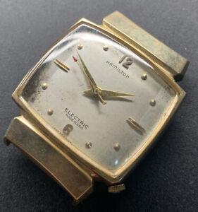 1960s 10k GF Hamilton Electric Hooded Lugs Cal 500A Wristwatch