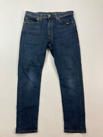 LEVI'S 512 SLIM TAPERED Jeans - W36 L32 - Navy - Great Condition - Men's