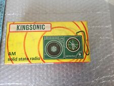 Vintage NEW IN BOX KINGSONIC KING SONIC   Portable Radio + Earphone #NIB
