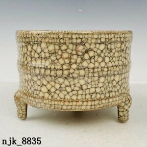 China  Song dynasty  Brother kiln  Carving Poems  Three legged toilet box