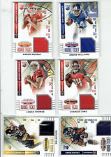 2014 Contenders Rookie Ticket Patches,6 card lot,Carey,Murray,Sims,Thomas,Archer