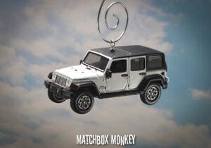 White Jeep Wrangler Sport JKU Unlimited Custom Christmas Ornament '18 '19 JK