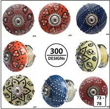 Möbelgriffe Möbelknauf Schubladen Porzellan Keramik Knopf Knäufe Lazur  73-78