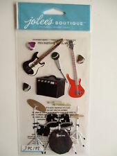 JOLEE'S boutique 3D Autocollants-Rock & Roll-Band Guitare électrique Batterie