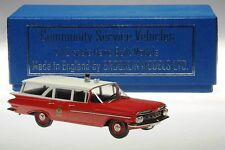 Brooklin CSV 10, 1959 Chevrolet Station Norwood Fire Chief, Ambulance 1/43