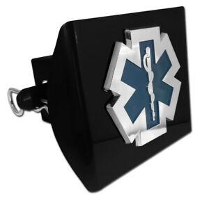 EMT Emblem on Black Plastic Hitch Cover MADE USA