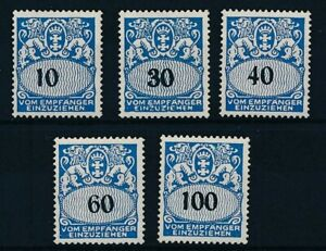 [59251] Germany Danzig Due 1938 good set MH Very Fine stamps $35