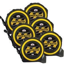 Toughmaster Pocket Tape Measures Metric/Imperial 5M/16ft Anti-Impact Pack of 6