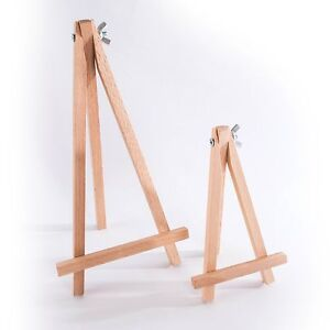 Small & Mini Wooden Easel Stand/ 15 or 25cm Table Desktop Wedding Photo Display