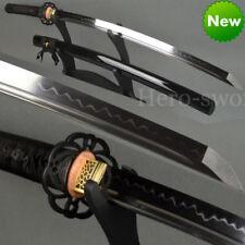 High Quality Clay Tempered 1095 Steel Katana Real Hamon Japanese Samurai Sword