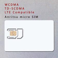 Standard Sim microSim card 3G 4G Wcdma Td-Scdma Lte Phone Test Card for Anritsu