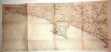 Carta geografica antica GENOVA LIGURIA RIVIERA DI LEVANTE 1928 Antique print map