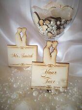 Personnalisé en bois mariage nom place cards; vip; anniversaire; table decor