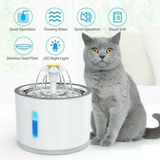 2.4L Cat Drinking Water Fountain Pet Dog Electric Automatic Bowl Filter