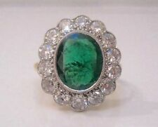 Emerald Cluster Not Enhanced Natural Fine Gemstone Rings