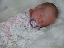 "So sweet Reborn Preemie Baby Girl Teagan-Denise Pratt 16"" 3LBs 1OZ W/Pacifier"