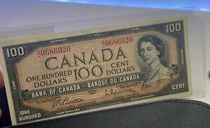 Canada 🇨🇦1954 - $100 Dollars Beatie Rasminsky Sig. - ***GEM UNC**
