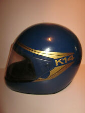 VINTAGE OLD ANCIEN CASQUE HELMET KIWI K14 BLEU BLUE MADE IN SUISSE de 1984